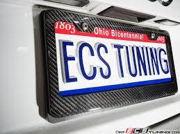 mercedes license plate holder ecs 6373 carbon fiber license plate frame