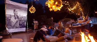 Backyard Outdoor Theater by Outdoor Movie Theater Garden Pinterest Outdoor Movie Screen