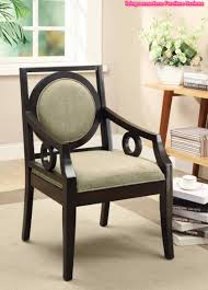 Contemporary Accent Chair Contemporary Accent Chair Carvings On The Exposed Wood Arms