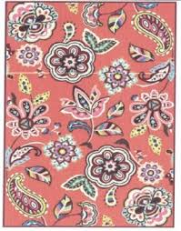 Coral Area Rugs Vera Bradley Indoor Outdoor Vbo017a Call Me Coral Closeout Area Rug
