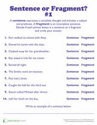complete sentence or fragment week 1 great activity to get the