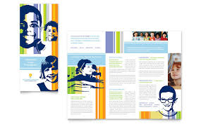 brochure design templates for education learning center elementary school brochure template word