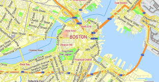 boston city map boston printable map massachusetts us exact vector g