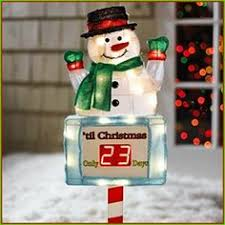 Lighted Outdoor Christmas Displays by Large Snowman Countdown To Christmas Clock Sign Outdoor Yard