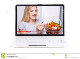 talking easter eggs talking about easter eggs on screen of laptop isol