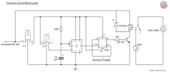 remote control light circuit diagram using 555 timer circuits