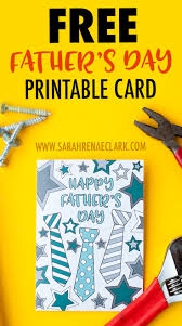 free father u0027s day card printable template sarah renae clark