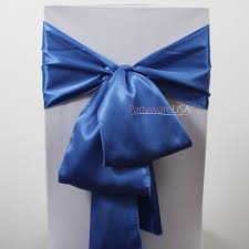 royal blue chair sashes wedding chair covers chair covers table linens wholesale at