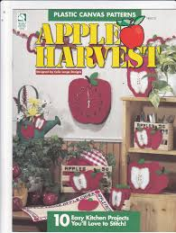 Apple Kitchen Decor by Apple Harvest Plastic Canvas Pattern Booklet 181013 Celia Lange