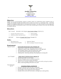 Sample Resume Objectives Cashier by Pleasant Restaurant Server Resume Sample Free Also Fast Food
