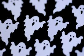 image of flying ghosts creepyhalloweenimages