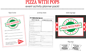 pta meeting invitation pizza with popsteacher pta father u0027s day flyer invite