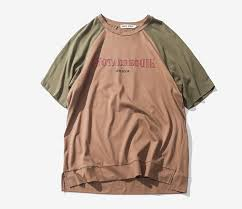 summer mixed colors t shirt loose letters couple clothes cc01680