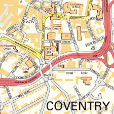 map uk coventry coventry wall map map graphics