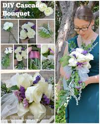 diy bouquet diy cascade bouquet how to make a bouquet other on cut out keep
