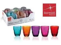 bicchieri colorati bormioli set 6 bicchieri bormioli ercole multicolor bicchiere 23 cl multi