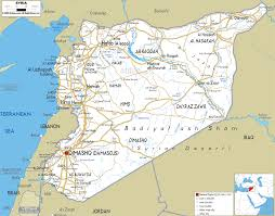 map of syria detailed clear large road map of syria ezilon maps