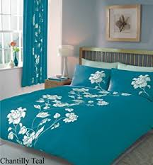 Bed Linen Sizes Uk - teal printed bedding king size duvet quilt cover bed set amazon