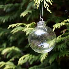 glass balls clear baubles ornaments decorations