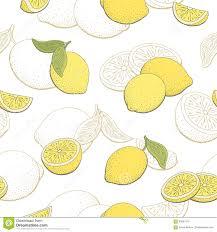 lemon fruit graphic yellow color seamless pattern sketch