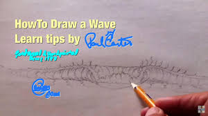 learn how to draw a wave tips paul carter youtube