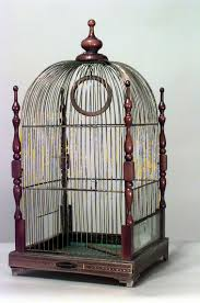 large metal victorian style bird cage with by peppermintrhino