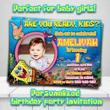 customized spongebob invitations stephenanuno com