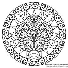 printable mandala designs kids coloring