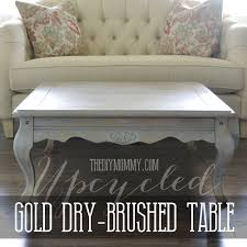 upcycled gold dry brushed table how to dry brush furniture