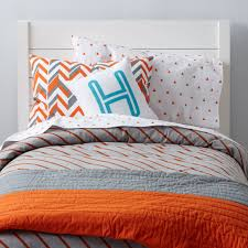 Boys Duvet Covers Twin Little Prints Kids Bedding Orange The Land Of Nod