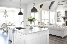 open concept farmhouse white kitchen open concept farmhouse style kitchen pinterest