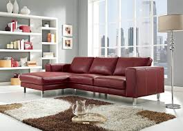 Leather Sectional Sofa Chaise 18 Stylish Modern Red Sectional Sofas