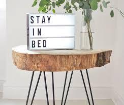 small apartment diy minimalist tree slice coffee table spaceoptimized