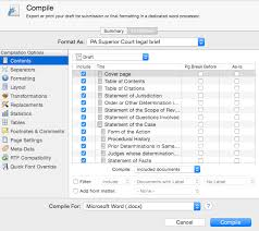 writing legal briefs with scrivener 40tech
