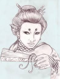 corner tattoos japanese geisha tattoo designs