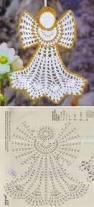 pretty crochet angel christmas ornament pattern tejidos hilda
