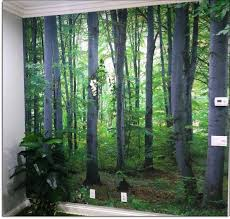 woodland forest peel stick wall mural each comes in separate easy to install panels install by simply peeling off the protective backing wall murals can instantly transform any room in your