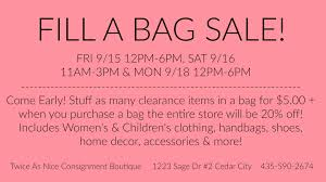 Home Decor Consignment by Twice As Nice Consignment Boutique U2013 Fill A Bag Sale