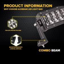 auxbeam light bar review auxbeam 50 curved led light bar product review 2017