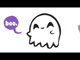 draw cute ghost halloween easy pictures draw