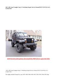 1995 jeep wrangler owners manual pdf jeep printable u0026 free