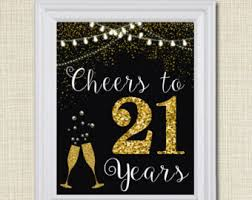 21st Party Decorations Cheers To Seventy Five Years Cheers To 75 Years 75th Wedding