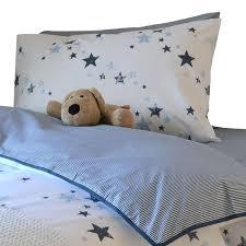 Organic Cotton Duvet Cover Cot Bed Potato Stamp Stars Duvet Cover Pillowcase Fox Organic