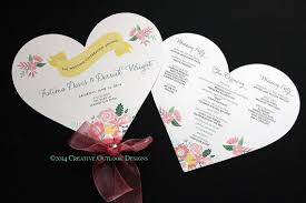 fan shaped wedding programs items similar to shabby chic flower heart shape fan wedding