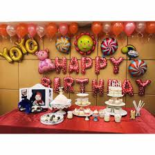 Wall Decoration With Balloons by Birthday Balloon Packages Baby One Year Old Aluminum Film Balloon