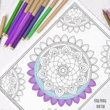 mandala coloring coloring adults easy peasy fun