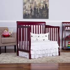 Crib That Converts To Twin Size Bed by Dream On Me Aden 4 In 1 Convertible Mini Crib Espresso Walmart Com