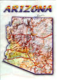 Arizona Map Us by Arizona Map Remembering Letters And Postcards
