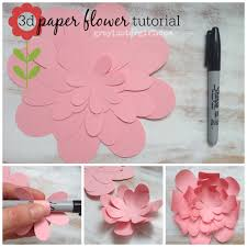 3d paper flower tutorial awesome idea must try svg flowers