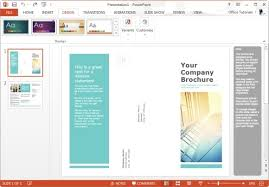 powerpoint brochure template tri fold tri fold brochure template